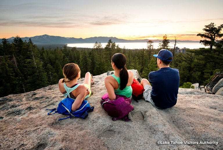 People watching the sunset at Van Sickle Bi-State Park, South Lake Tahoe 1
