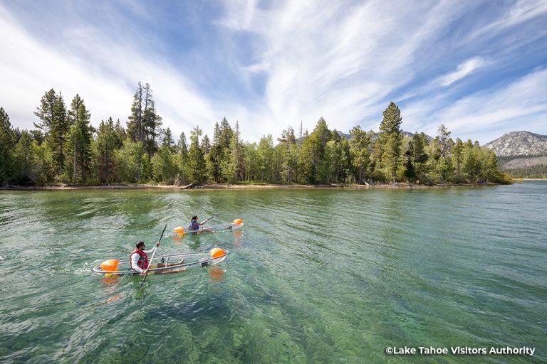 Two people kayaking, Lake Tahoe 1