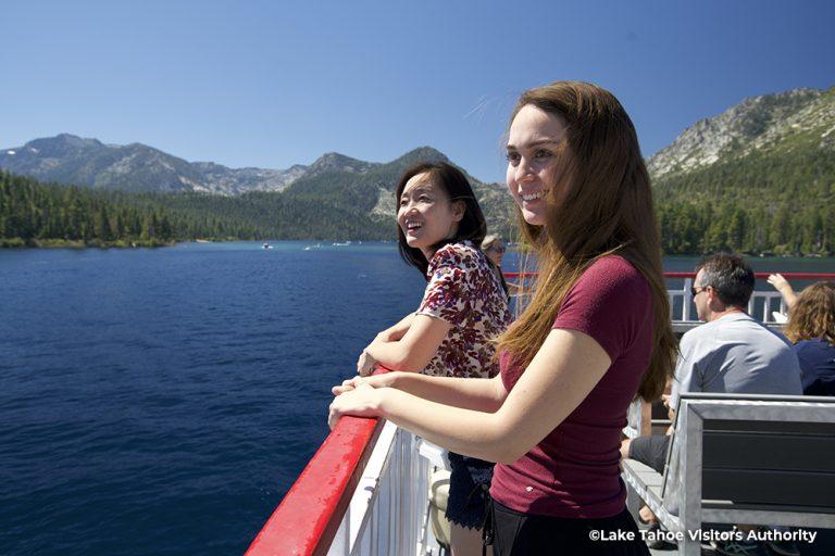 Two women on M.S. Dixie II, Lake Tahoe 1