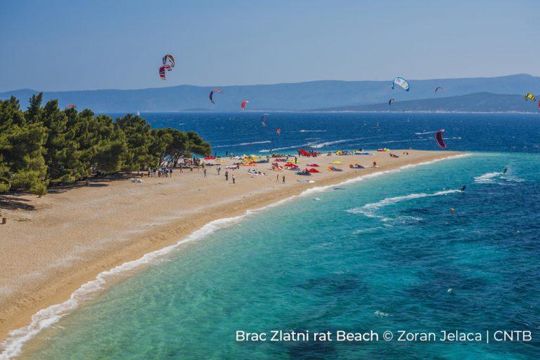 Brac Zlatni rat beach -Photo Credit Zoran Jelaca_CNTB