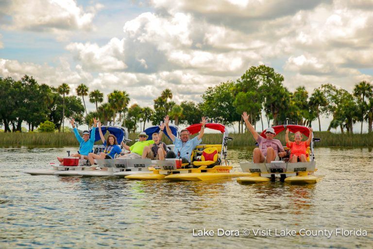 1 Lake County Florida Lake Dora Pedalos_