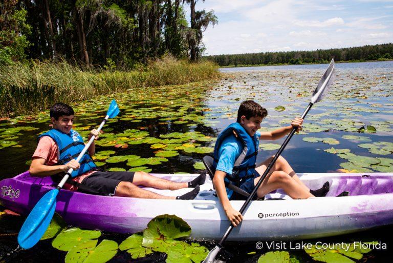 1 Visit Lake County Florida Kids in Kayak