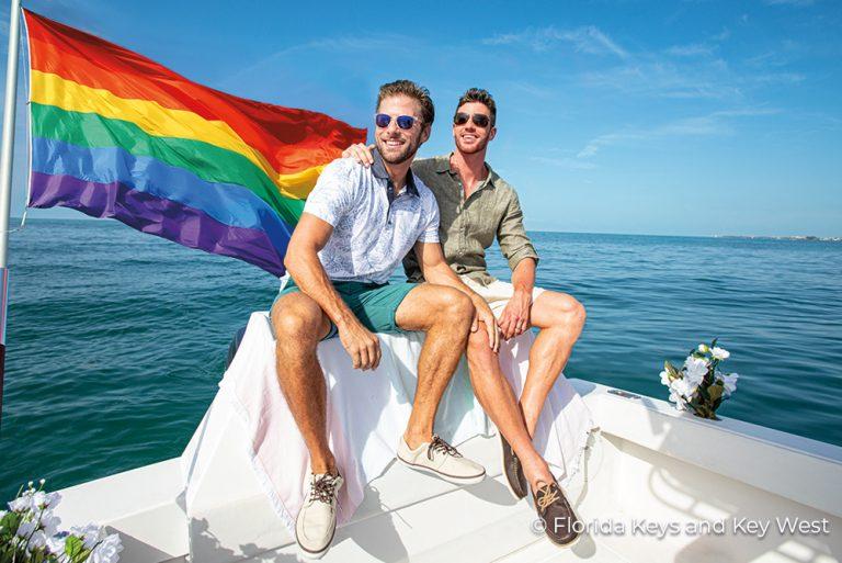 MC-KW Gay Couple Boating Florida Keys 25Jun21