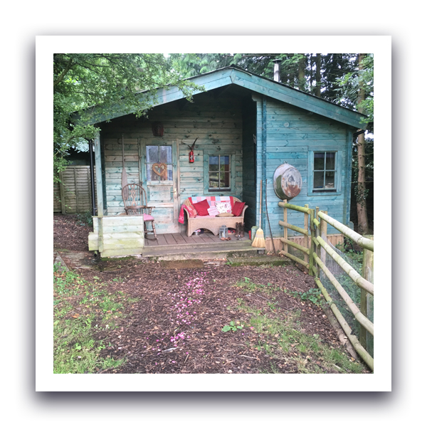 a cabin in the woods in Hay on Wye